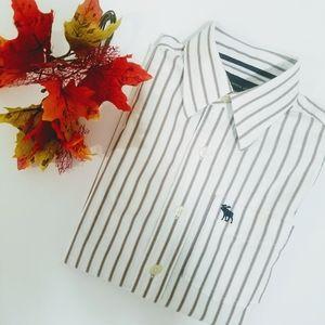 Abercrombie Striped Women Shirt Sz M